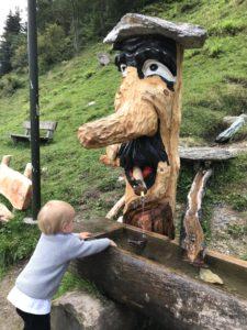 Tirolo austriaco con bambini
