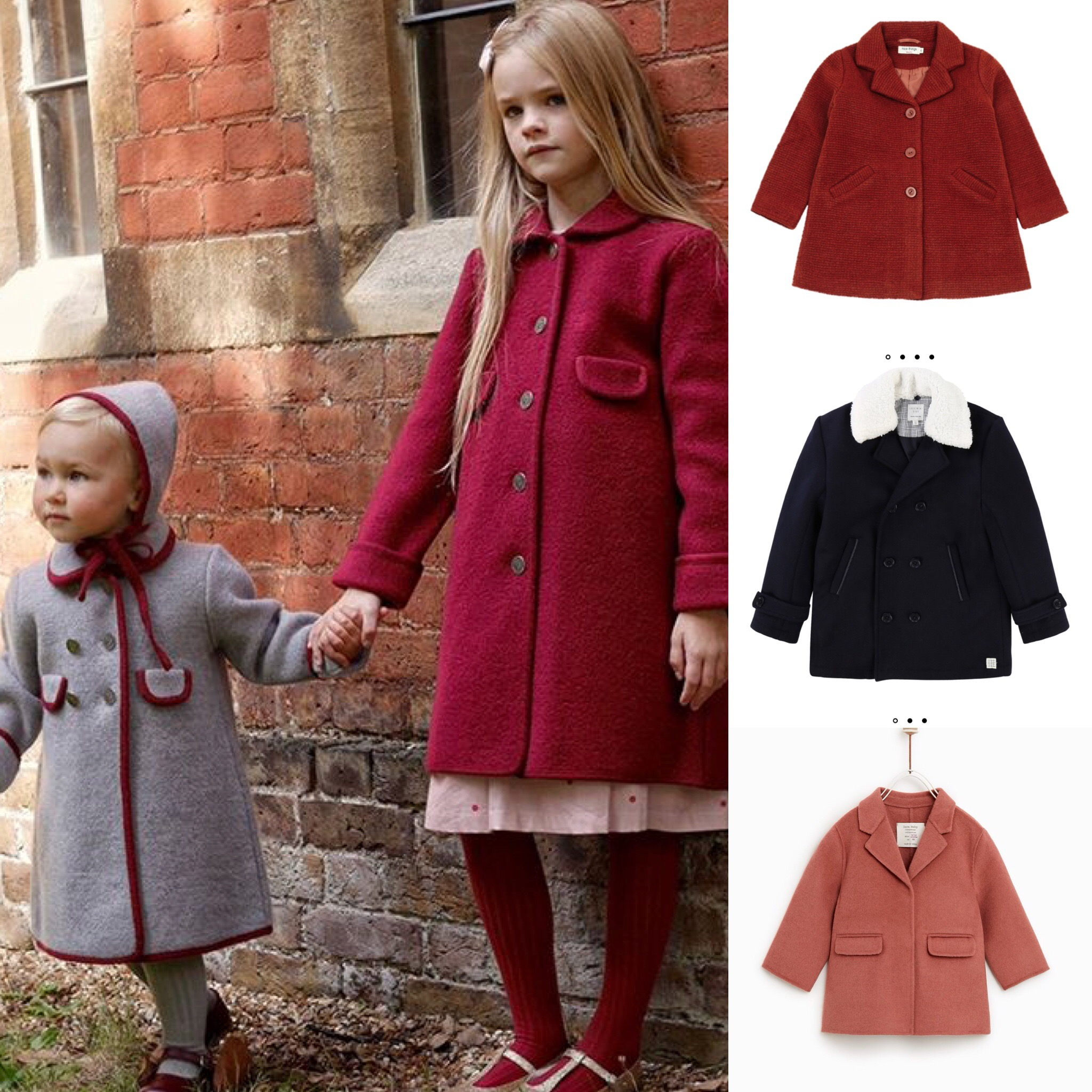 cappotti British bambini
