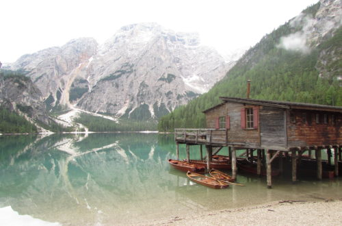 lago di Braies bambini